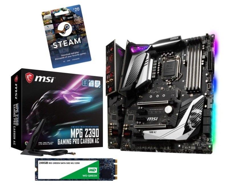 MSI MPG Z390 GAMING PRO CARBON LGA 1151 DDR4 Motherboard £179.98 Ebuyer