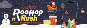 Santa's Rooftop Rush app game! Win prizes @ Sizzling Pubs / Harvester / Toby Carvery