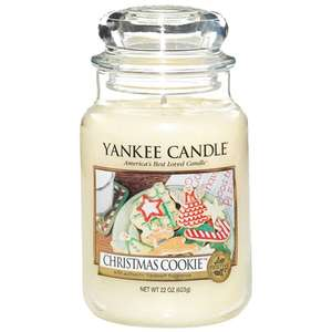 Christmas scent Yankee candles large £13.33 with free delivery over £30 @ Clinton cards