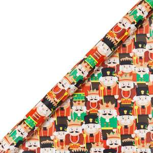 Christmas Gift Wrap - 5m - Assorted 37p C+C with Code The Works