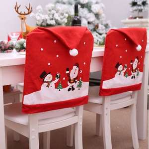 One Christmas Snowman Chair Cover 84p delivered w/code at Dresslily
