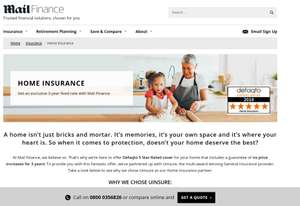3 year fixed price home insurance @ Mail finance