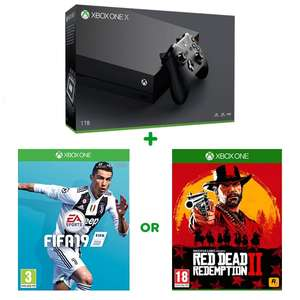 Xbox One X 1TB Console & FREE Select Game Fifa 19 or RDR2 £369.99 @ Smyths toys