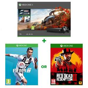Xbox One X Forza Horizon 4 & Forza Motorsport 7 Bundle + FIFA 19 Or RDR2