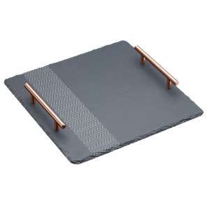 Artesa Etched Square Serving Platter - 30cm (was £10.49) Now £4.24 C&C w/code at Robert Dyas