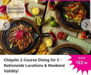 Chiquito 2-Course Dining for 2