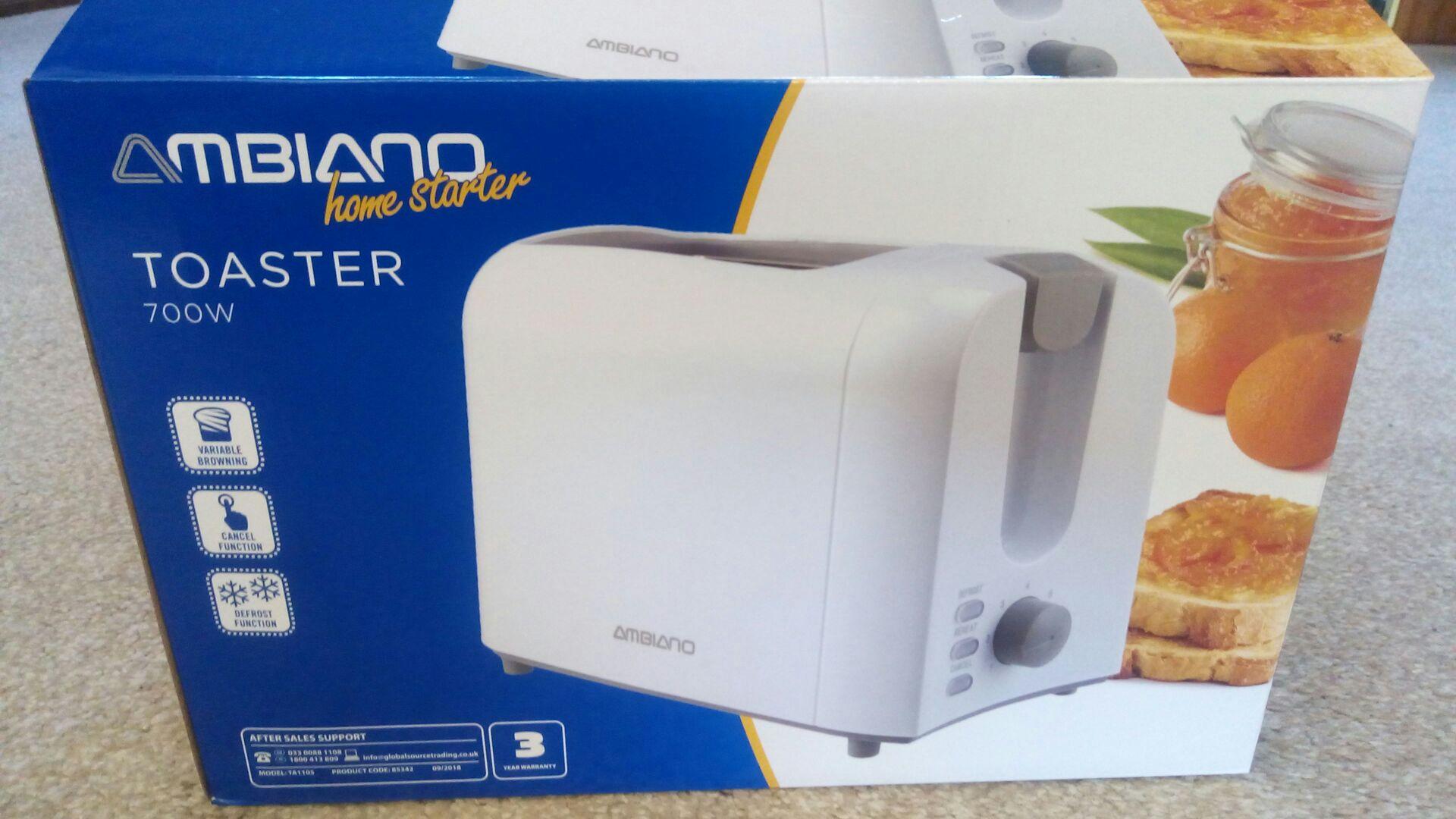Ambiano 2 slice toaster just 2.99 in-store @ Aldi