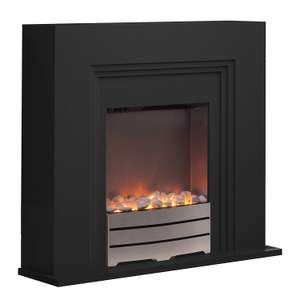 Warmlite WL45013 Canterbury Fireplace Suite, Realistic LED Flame Effect, Black - 28% off £129.99 @ Amazon