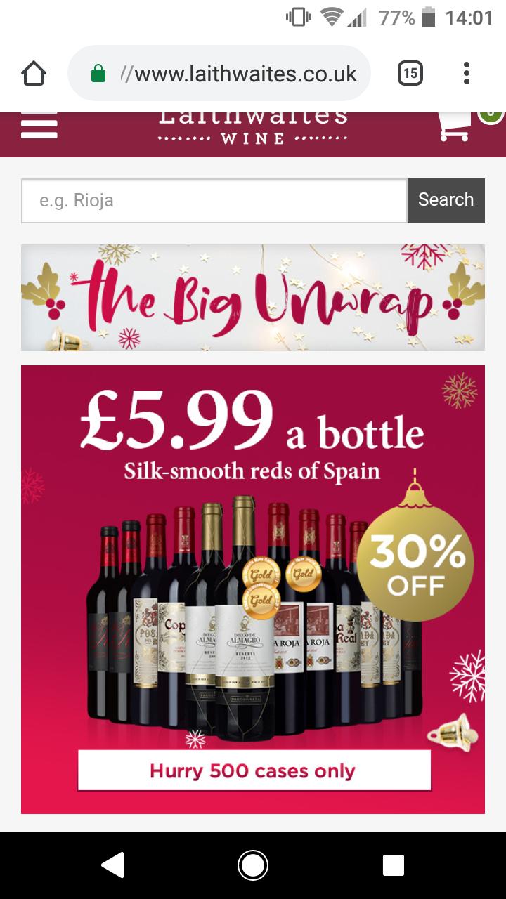12 bottles of Spanish red wines for only £31.98 delivered @ Laithwaites