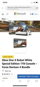 XBOX ONE X Forza Horizon 4 & Forza 7 & RDR2 & Gears of War 4 & 3 months XBOX LIVE £408.98 - only with Amex at Microsoft for £308.98