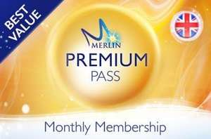 Merlin Premium Annual Pass (New Monthly Subscription offer) - £178.87 for 12 months