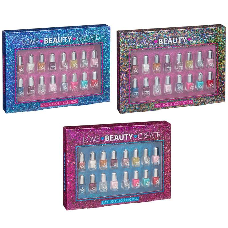 Love-Beauty-Create Nail Polish Set instore at B&M for £3.99