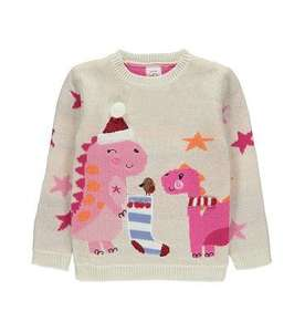 Christmas Jumpers reduced at Asda George - Merry Cactus Sweatshirt (was £5) now £3.50 / Christmas Cream Dinosaur Jumper (was £9) Now £6.00