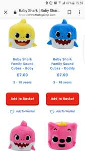 Baby Shark sound cubes available at The Entertainer for £7