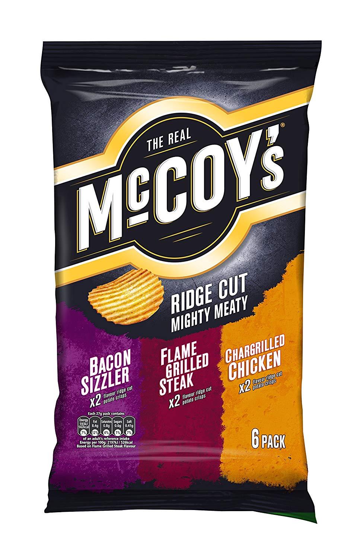 McCoy's Mighty Meaty Potato Crisps, 27 g, Pack of 20 @ Amazon £12.58 Prime £17.07 Non Prime.