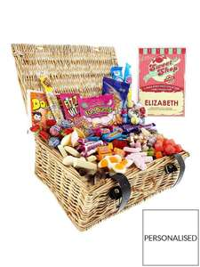 Personalised Retro Sweet Hamper Xmas £26.99 @ Very