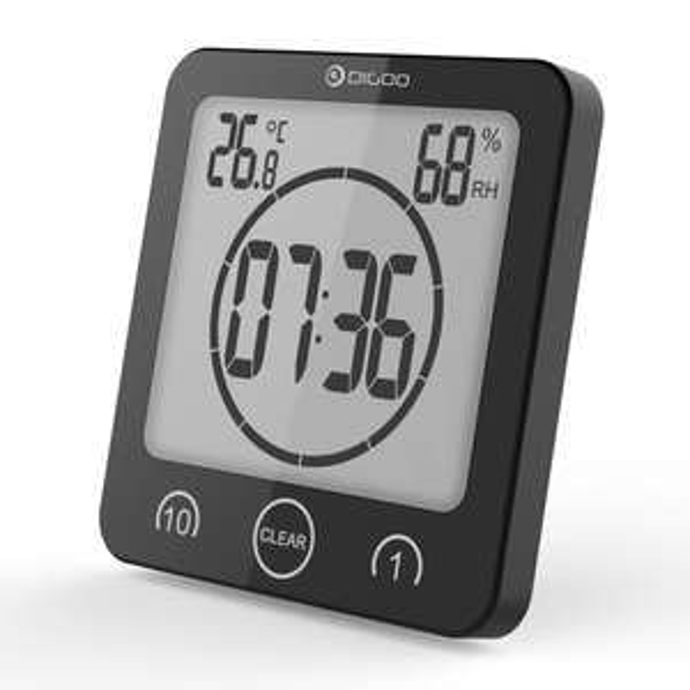 Digital LCD Bathroom Wall Clock Waterproof / Timer / Humidity / Thermometer / Alarm Clock @ Banggood for £3.97