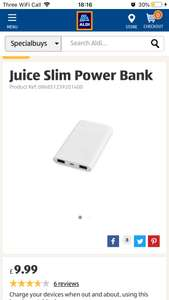Juice power bank Aldi £3.99