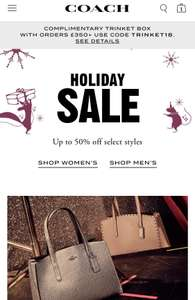 Coach Holiday Sale Up To 50% Off