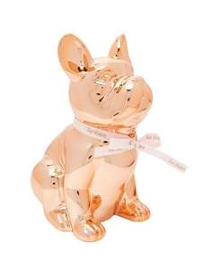Ted Baker Buster French Bulldog Money Box Rose Gold £20 was £35 @ Very free c & c