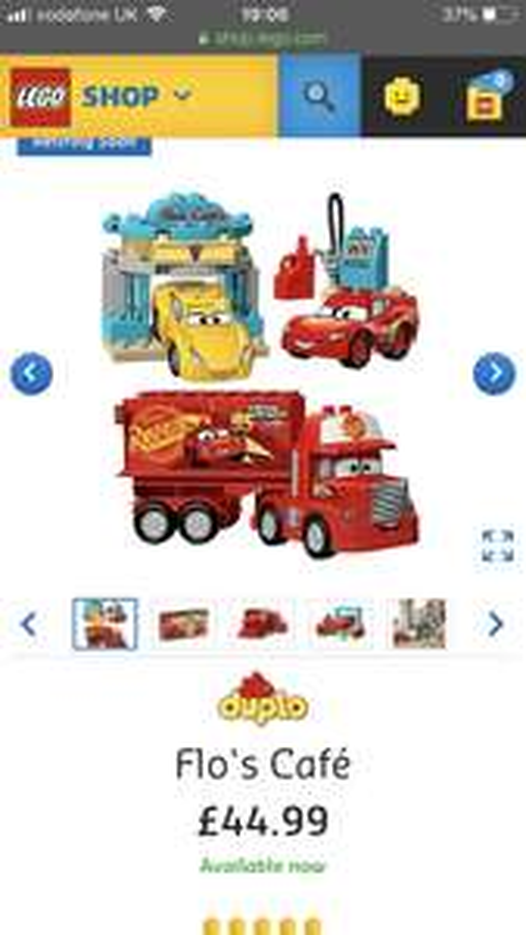 Disney cars lego 10846 flos cafe £24 @ Tesco
