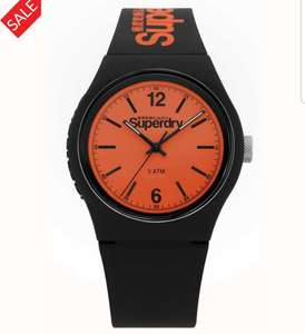 Superdry mens urban watch black and orange £14.12 using code A43GB from firstclasswatches with free royal mail delivery