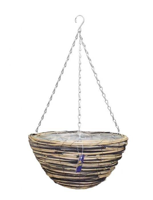 """Home Hardware 36cm(14"""") Dragon Rattan Hanging Basket £1.99"""