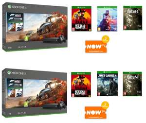 Xbox One X + Forza 4 + Motorsport 7 + Red Dead Redemption 2 + Just Cause 4 or Battlefield V + Fallout 4 + 2 month Now TV Pass £429.99 @ Game