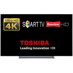 "Toshiba 49U6763DB 49"" Smart LED TV WiFi 4K Ultra HD Freeview HD & Freeview Play, £288.15 at tesco/ebay"
