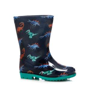 Bluezoo - Kids navy dinosaur print wellies £4 Free C&C with code