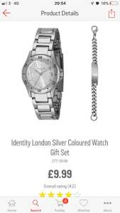 Identity London Silver Coloured Watch Gift Set £9.99 @ Argos