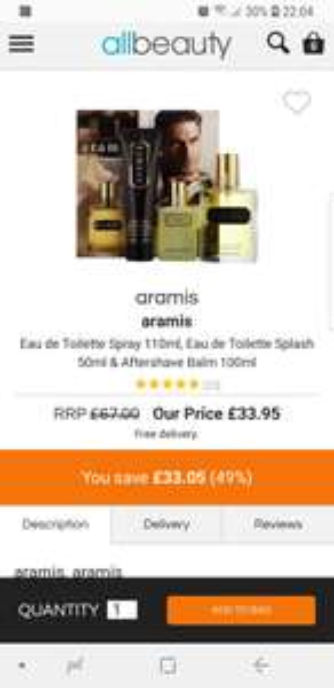 Aramis gift set £33.95 @ All Beauty