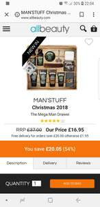 Complete men gift set. £16.95 @ All Beauty ( + £1.95 Del / Free wys £20)