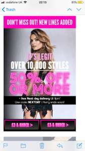 Boohoo 50% sale and free next day delivery with code