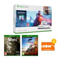 1TB Xbox One S with Battlefield V or Fortnite or Minecraft + Fallout 4 + Forza Horizon 4 and NOW TV £209.99 @ Game