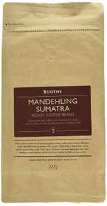 Booths Mandehling Sumatra Roast Coffee Beans, 227g, Pack of 6, £13.23 (Prime)/£17.72 (Non-Prime) @ Amazon