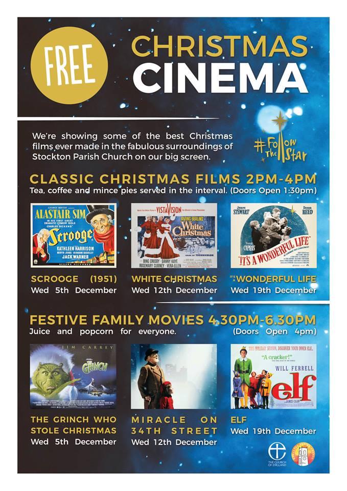 2 Free Christmas movies for the next 2 weeks @ 17th Century Stockton Parish Church