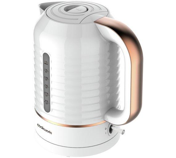 Cookworks Horizon Stripe Kettle - White Was £19.99 Now £14.99 @ Argos  12 month Guarantee