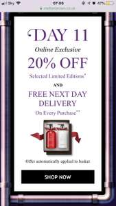 Molton Brown 20% off and free next day - online only