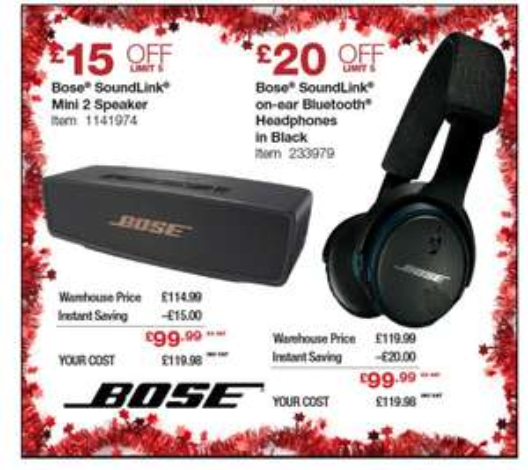 Bose Soundlink mini 2 Speaker £119.98 at Costco