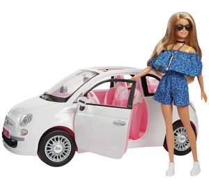 Barbie Fiat Car and Doll Exclusive £29.99 Argos
