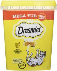 Dreamies Cat Treats With Cheese/Chicken Megatub, 350 g, Pack of 2 @ Amazon - £7.59 (Prime) £12.08 (Non Prime)