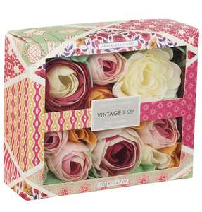 Vintage & Co Fabric and Flowers Soap Flowers - £5.99 @ Amazon Prime (+£4.49 non-Prime)