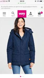 Ladies trespass blue winter coat reduced to £22 from £45