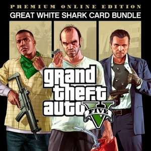 PS4 GTA V + Premium Online Edition + Great White Shark Card Bundle £15.99 @ PS Store