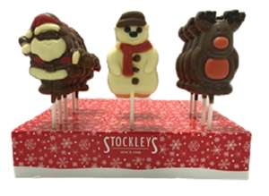 Christmas Chocolate Lollies 39p each or 3 for £1 in FultonFoods