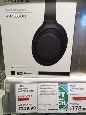 Sony WH-1000X M3  at Dixons travel. £219.99 for today only.