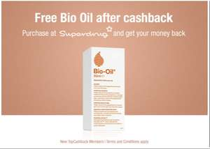 Free Bio Oil 60ml for new Topcashback customers (£8.99 at Superdrug)