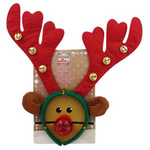 Light up Reindeer nose and headband only £1.20 @ The Works with code VCUK20 (+ free click and collect)