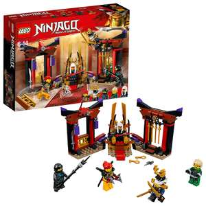 LEGO 70651 Ninjago Masters of Spinjitzu, Throne Room Showdown Set + 5 Lego Ninjago Minifigures £12.50 (Prime) / £16.99 (non Prime) at Amazon